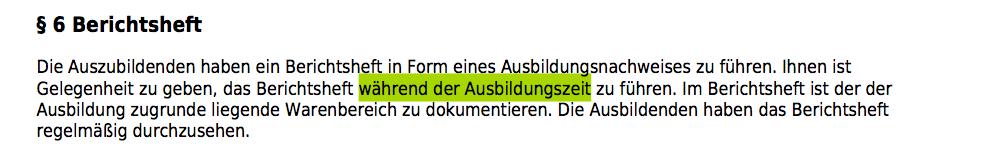 Berichtsheft-fuehren
