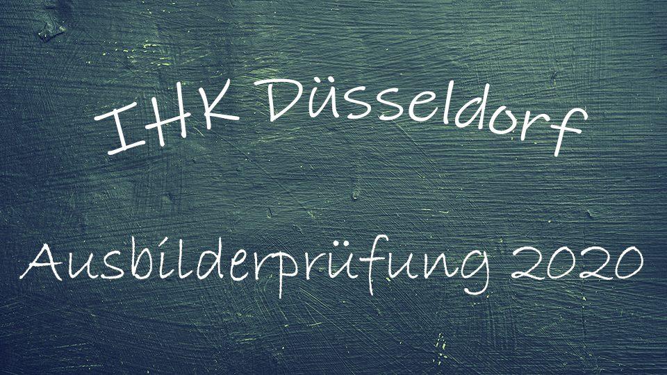 AEVO Prüfung - Ada - Industrie- und Handelskammer zu Düsseldorf im Jahr 2020