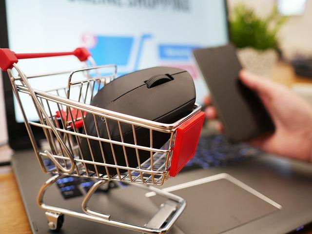 Hauptverantwortlich von den online Shop kann der Fachwirt die Prozesse betreuen. Bild zeigt einen online Shop.