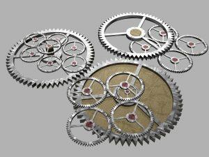 Sie als Industriemeister Metall halten wie das Zahnrad sämtliche Zahnräder am Laufen. Sie sind der Motor der Mitarbeiterführung. Bild zeigt Zahnräder!