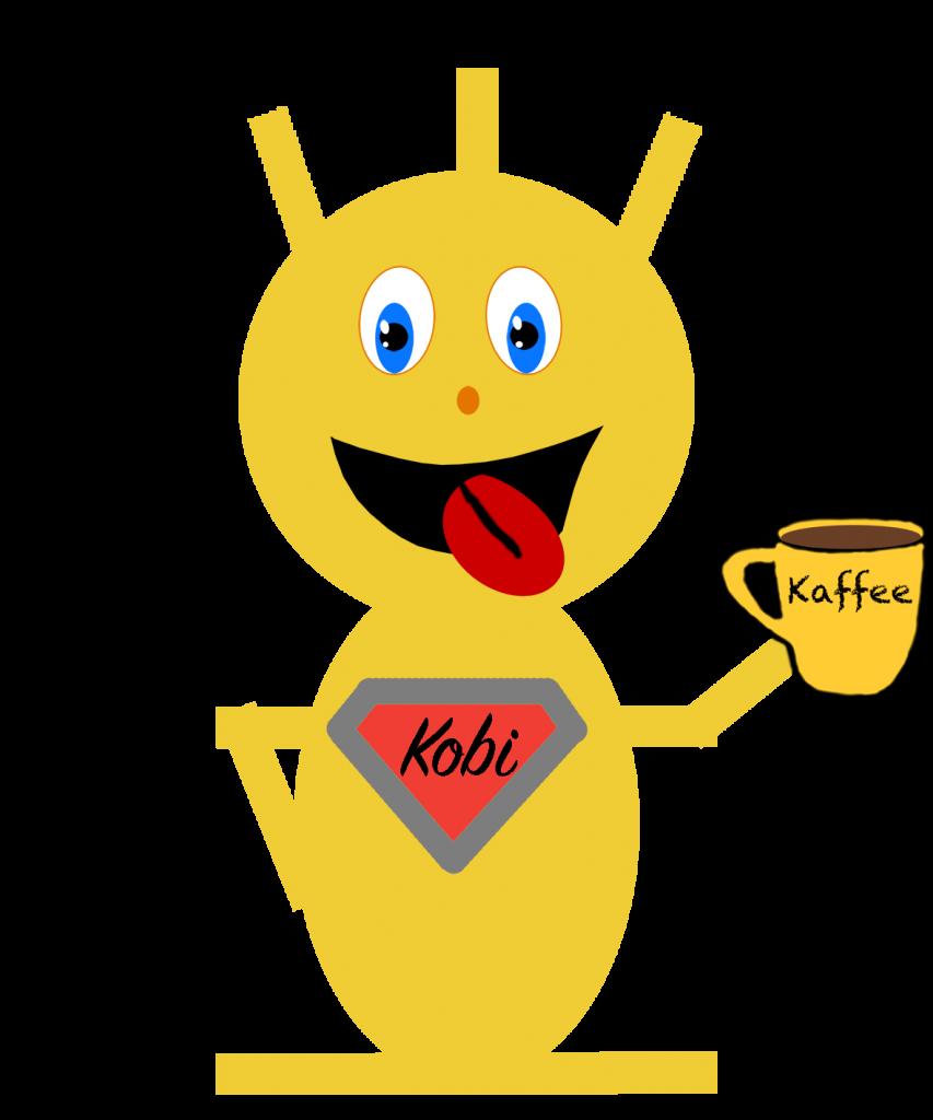 Kobi mit Kaffee