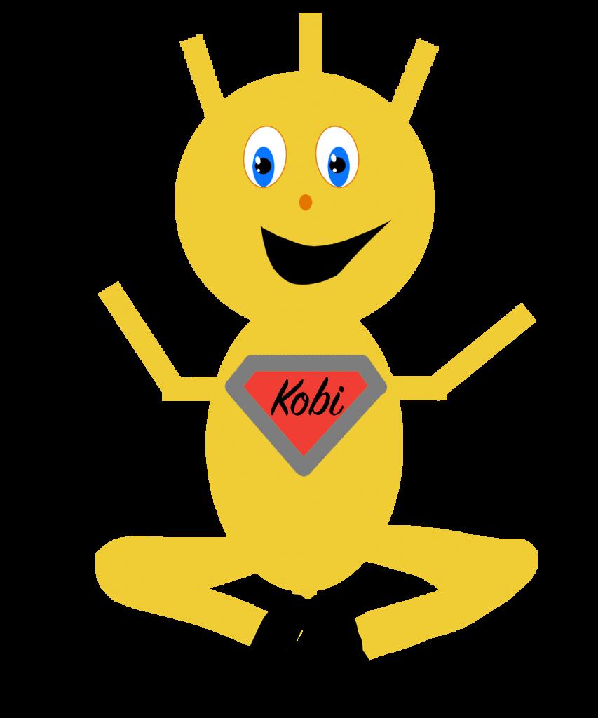 Kobi im Schneidersitz